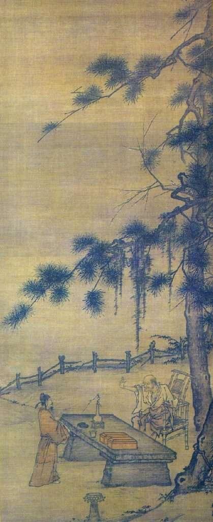 El encuentro entre Yaoshan Weiyan y Li Ao por Gong Xian (1618–1689)