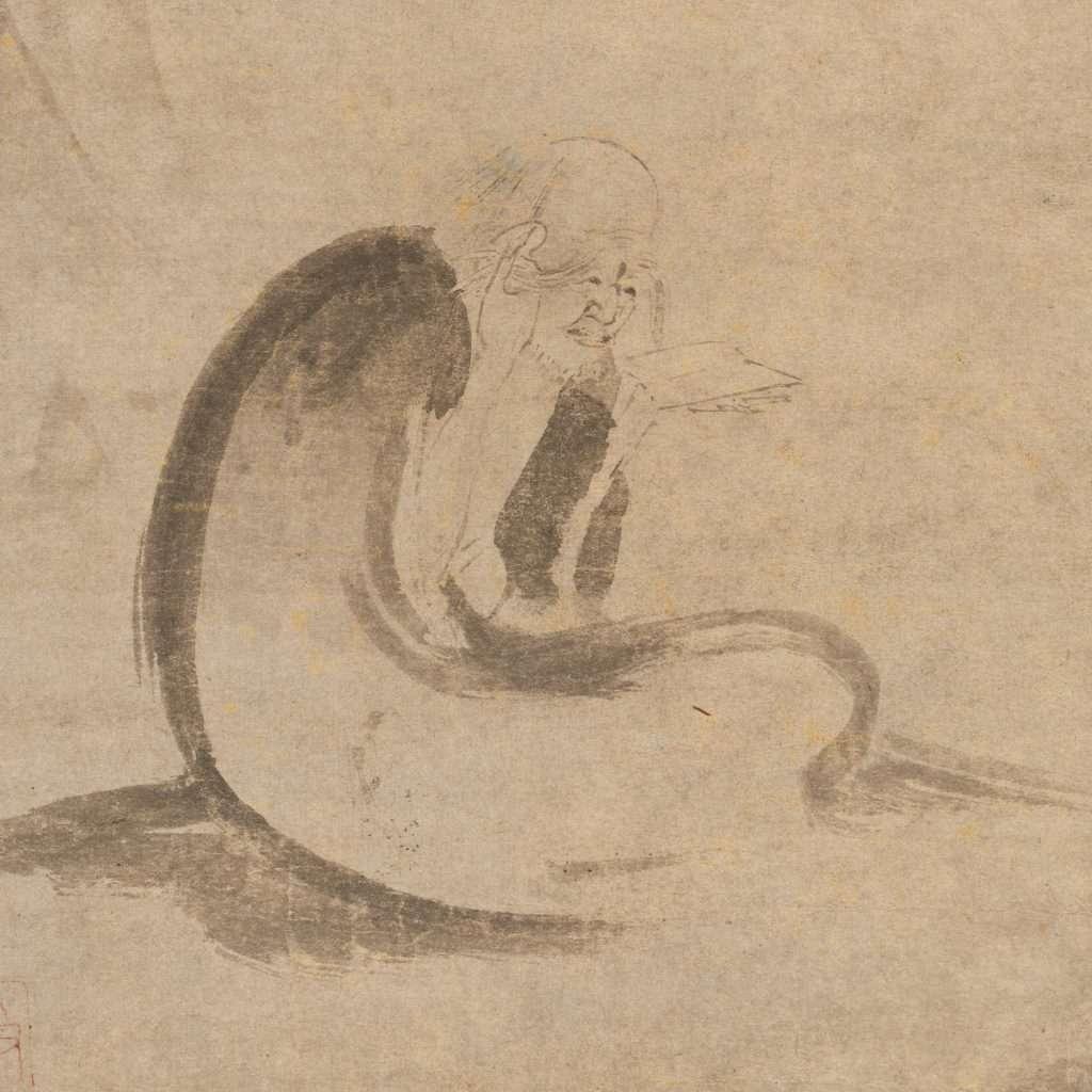 Anónimo · Leyendo un Sutra a la luz de la luna · Metropolitan Museum of Art