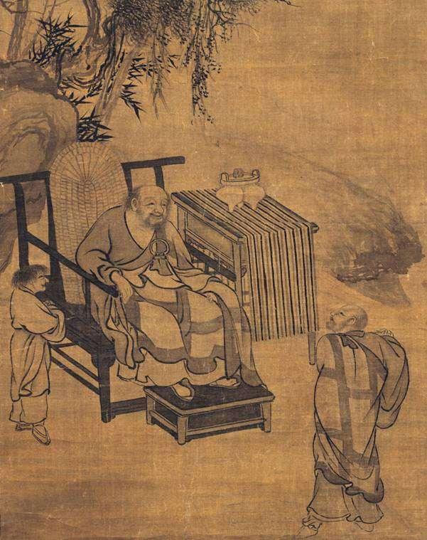 Xuefeng (Seppo) recibe a su estudiante Xuansha (Gensha)